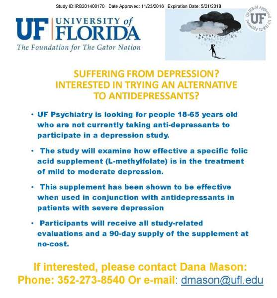 Depression Clinical Trial Information