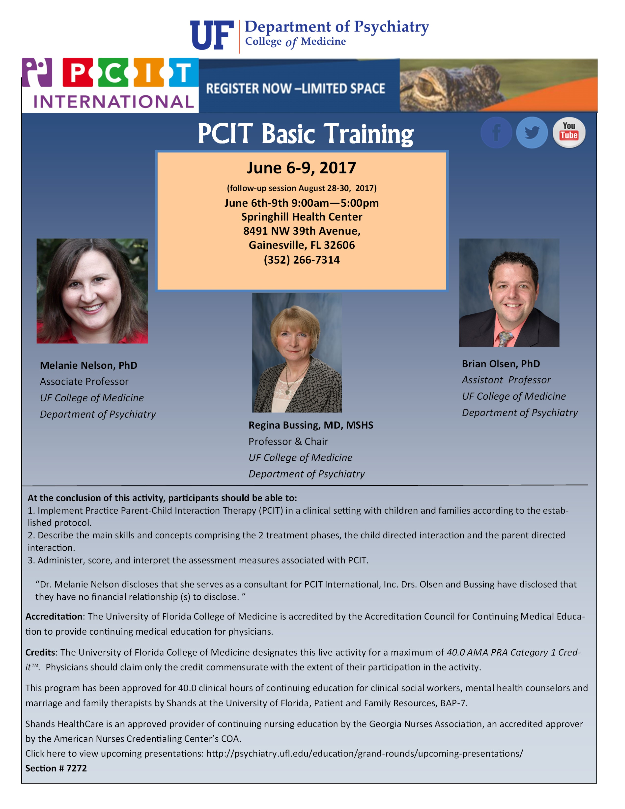 PCIT CME for June