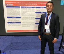 Christopher Ong, MD with his poster at the APA