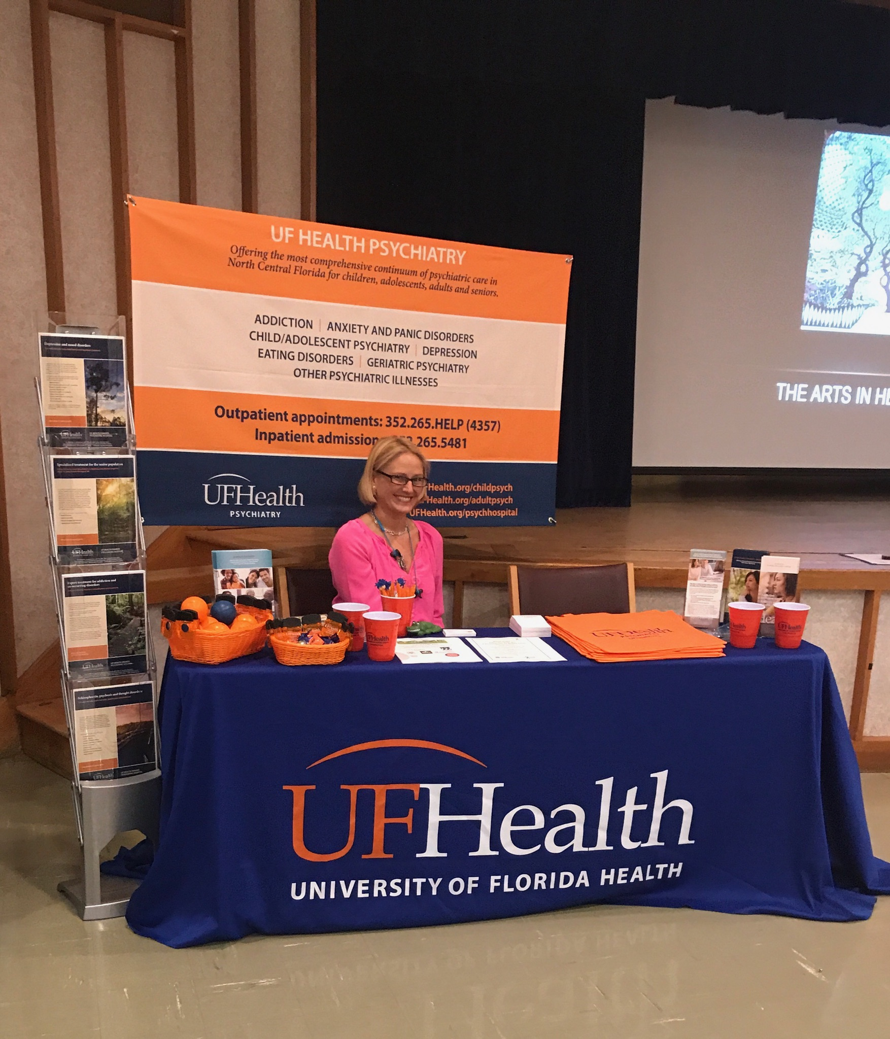 UF Health booth at VA CME event