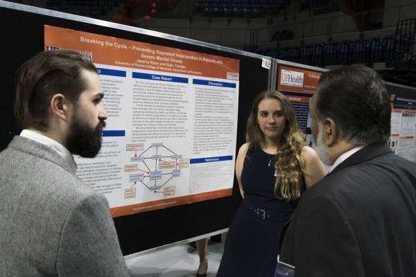 Jonathan Browning and Jessica Khan with Dr. Tandon