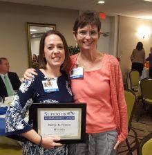 Robyn Nelson and Dr. Carol Mathews