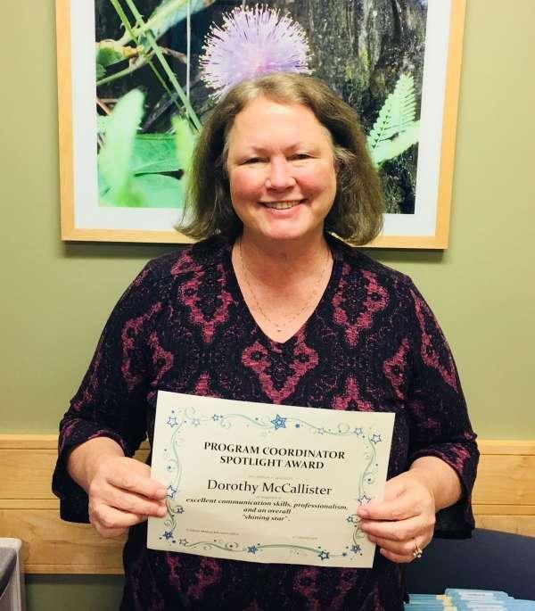 Dorothy McCallister Spotlight Award Winner