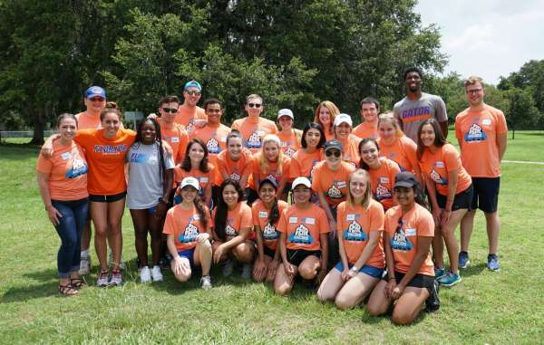 FEAR Facers camp counselors with UF Athletes